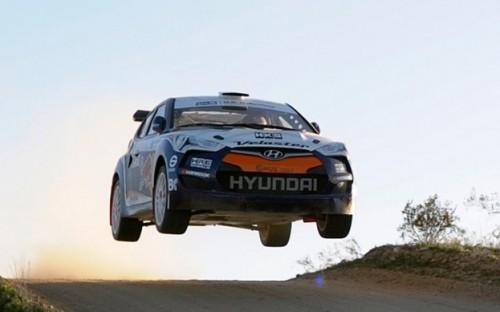 Hyundai Veloster Rally Car Airborne