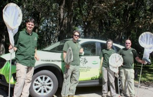 Butterfly field team with vehicle2