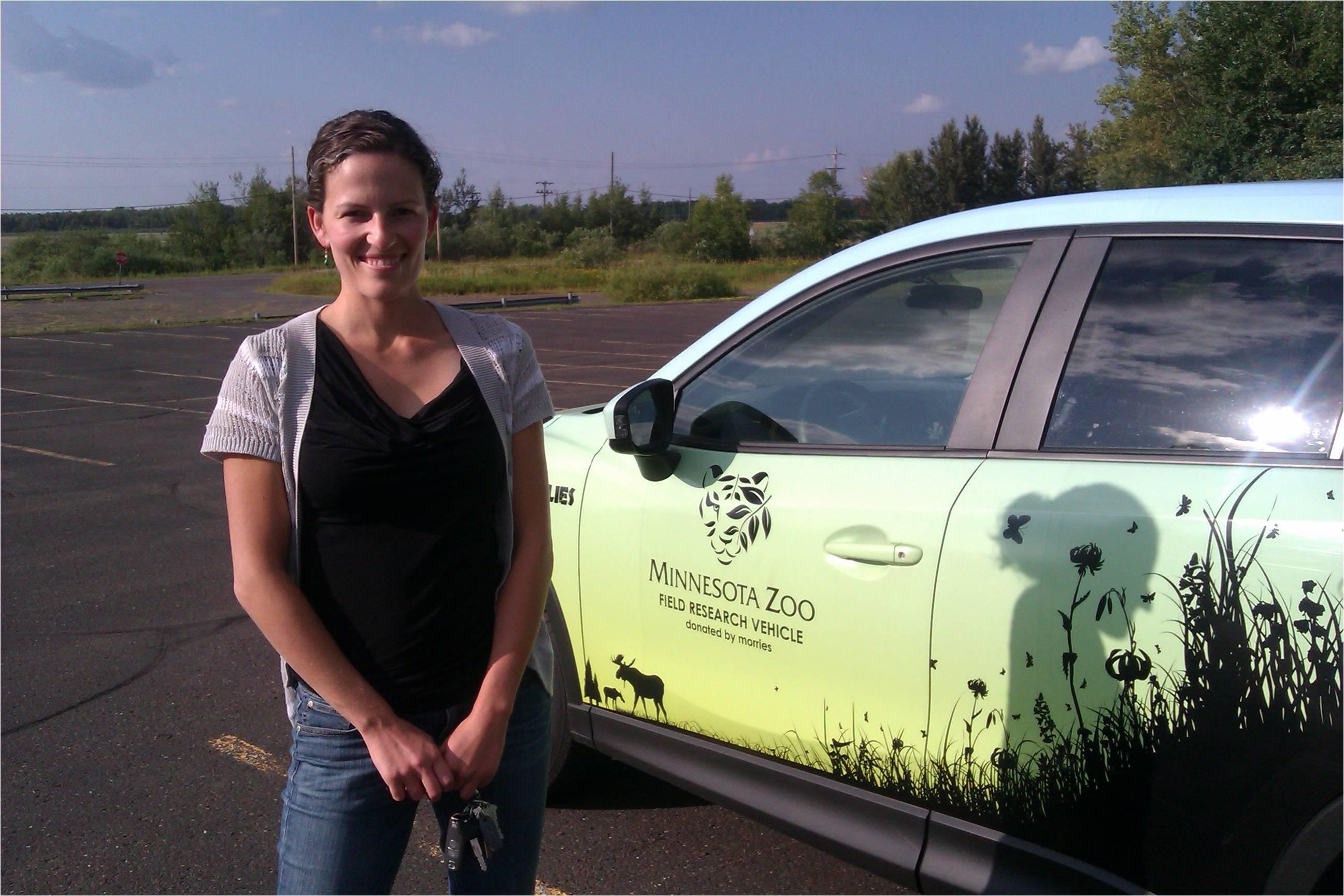 Kim VanderWaal with Morrie's vehicle