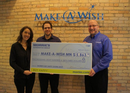 Make-A-Wish Check Delivery