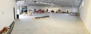 While this looks like a bit of a blank canvas at the moment, this is going to be our high-tech repair facility that makes up the bulk of the body shop.