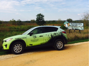 The Minnesota Zoo Mazda CX-5 enters Minneola State Park